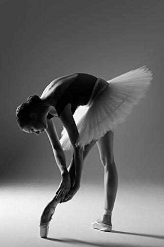 Postereck - Poster 1270 - Ballerina, Tutu Ballett Spitzschuh Sport Tanz Frau SW Größe DIN - A4-21.0 cm x 29.7 cm -