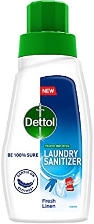 Dettol After Detergent Wash Liquid Laundry Sanitizer, Fresh Linen - 480ml