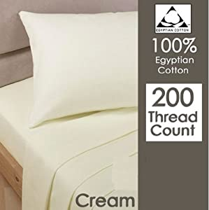 Rayyan Linen's 100% Egyptian Cotton Pair Of Pillowcases T 200 Thread Count 50 X 75 Cm