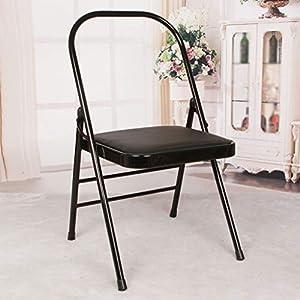NSC Yoga Verstärkte Yoga-Stuhl Vintage Yoga Seat Fitness-Accessoires,Black