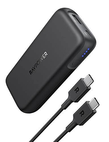 RAVPower PD Powerbank USB C (29W) 10000mAh Power Delivery externer Akku für iPhone 11/11 Pro/Max / 8 / X/XS, iPad Pro 2018, Galaxy S10 und mehr