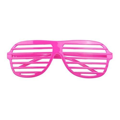 1 Stück Rose Kunststoff Fensterlädenbrillen Jalousie Sonnenbrille Geschlitzte Blackout Brillen Party Favors Kostüm zum Kinder & Erwachsene von SamGreatWorld