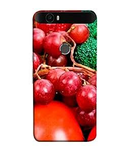 PrintVisa Designer Back Case Cover for Huawei Nexus 6P :: Huawei Google Nexus 6P (Red Apples And Tomatoes Design)
