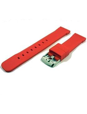 ZeitPunkt-Silikonband sportlich ralley-rot 24 mm