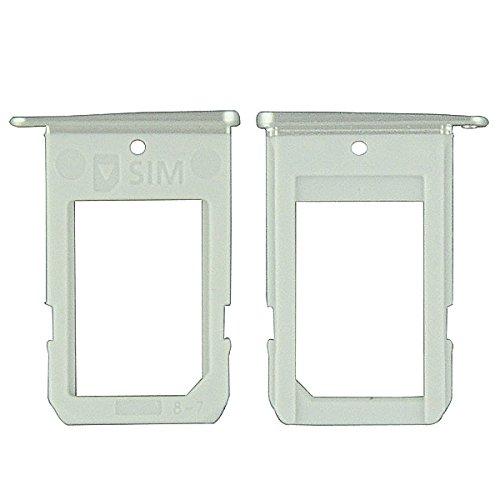 BisLinks® Silber Sim Karten Tray Slot Halter Ersatz Teil für Samsung SM-G925F Galaxy S6