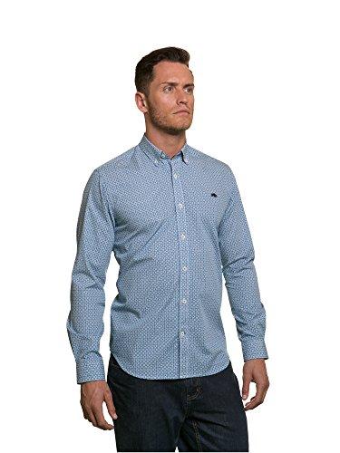 Raging Bull da uomo Ditzy Stampa Floreale Shirt Blue