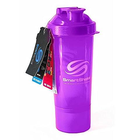 SmartShake Slim Violett (400ml)–Shaker Cup, neue Farbe