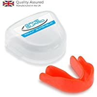 GAME GUARD Boil & Bite Mouth Guard / Teeth Guard / Gum Shield – RED - Mouthguard , CE Approved, Great for School Sports, Rugby, Boxing, MMA