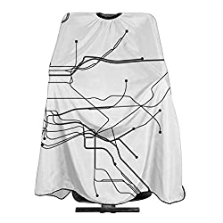 New york city white subway map Haircut Hairdressing Cape Cloth Apron Hair Styling Hairdresser Cape Barber Salon