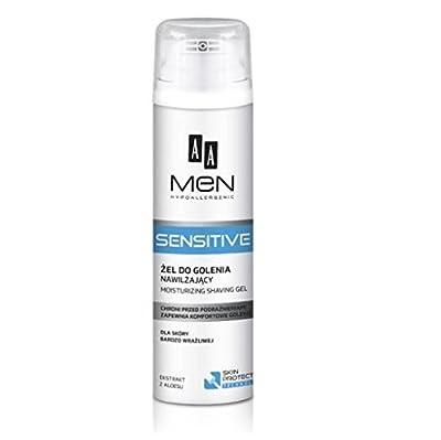 AA Men Hypoallergenic Sensitive Moisturising Shaving Gel with Aloe Extract 200ml