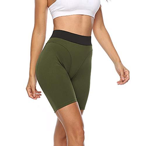 Weant Damen Yoga Kurz Leggings Slim Fit Fitnesshose Sporthosen Einfarbig Sexy High Waist Sport Hosen Elastische Yoga Leggings Kurz Hüfthose Stretch Workout Jogginghose Strumpfhose S-XL -