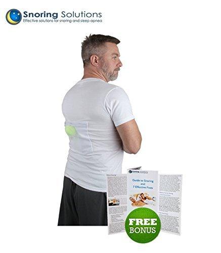 Maglietta per smettere di russare by Snoring Solutions – L'aiuto più comodo per i russatori di schiena per smettere di russare! Elimina il russamento regolando...