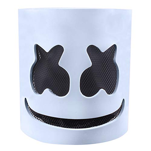 Xgsco Marshmallow Maske, elektronische Silbe DJ Maske Halloween Kopfbedeckung Neuheit Kostüm Party Adult Scary Horror Prom Requisiten Zombie - Adult Punk Zombie Kostüm