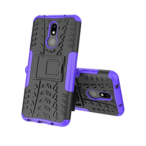 MRSTER Nokia 3.2 Custodia, [Heavy Duty Protezione] [Dual Layer] Difficile Silicone Kickstand Ibrida Shock Proof Cover Custodia Compatibile Nokia 3.2 (2019). Hyun Purple