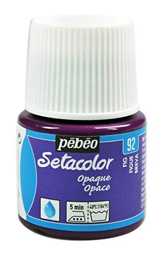 Pébéo Pébéo 295092Setacolor Textilfarbe, deckend, 1Flasche 45ml, Feige