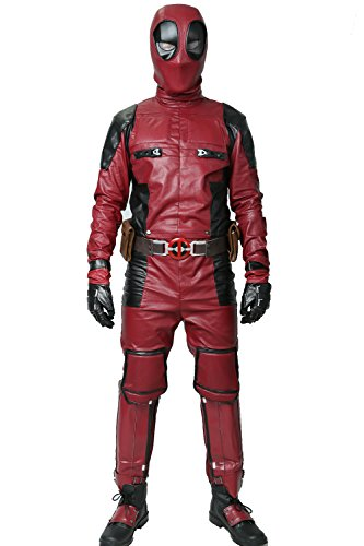 (Men Costume Halloween Updated Version Hero Cosplay Adult PU Outfit with Belt Clothing)