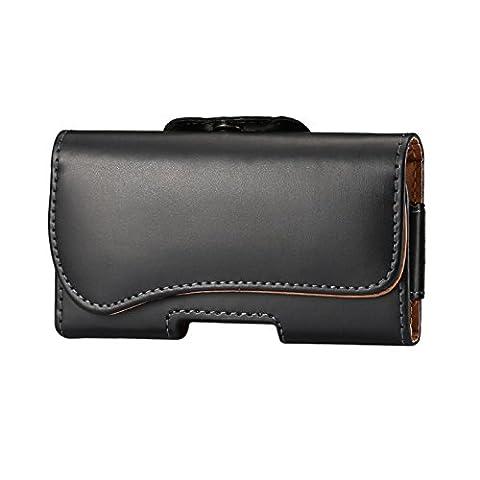 Lordwey® 5.7-6.0inch Housse de ceinture universelle pour téléphone portable, Étui en cuir horizontal en cuir PU Leather Waist pour Samsung S8 Plus/Huawei Mate8/iPhone 7 Plus