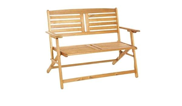 Amazon.de: Paar 2-Sitzer Folding Holz Garten Bänke - Lattenrost ...