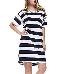 2399db068 Vestido De Noche De Camisa Camisón A Especial Estilo Mujer para Rayas  Vestido De Maternidad hasta