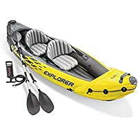 Hot New Explorer K2 Bote Inflable Kayak, Kayak Hinchable de 2 Personas Set con remos de y Bomba de Aire de Salida de Alta,36 x 20 x 123 Inches