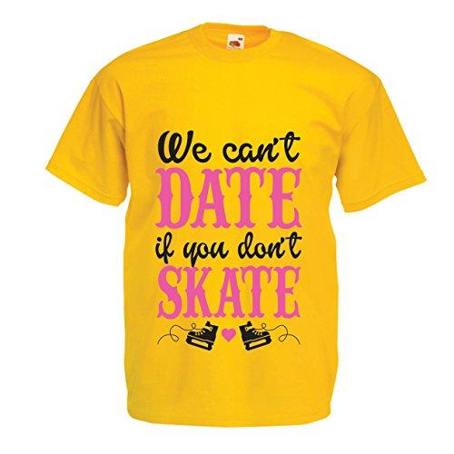 Männer T-Shirt Kein Skate, kein Datum - Coole Zitate Geschenk, lustige Dating Zitate (Large Gelb Mehrfarben)