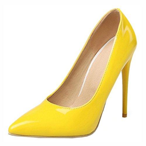3e6555453b7bf9 Agodor Damen High Heels Lack Pumps mit Spitze und Stiletto Elegant Arbeit  Büro Schuhe