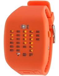 The One IC900M3OR - Reloj con correa de caucho para hombre, color naranja / gris