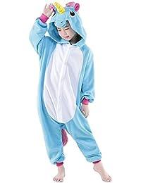 Pijama de invierno Unicornio Disfraz Manga Larga Monos Dibujos para Niños Niñas Ropa De Noche Para