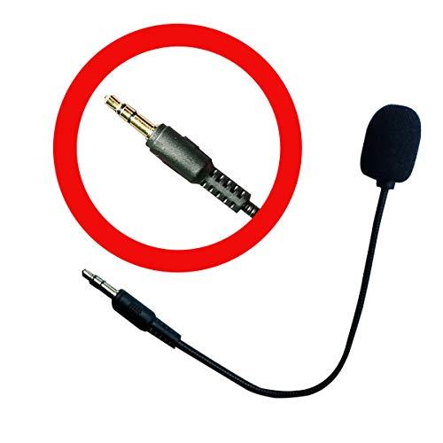XBC Tech Microfono sostitutivo Boom Mic 3.5mm Compatibile per Cuffie da Gioco Turtle Beach Ear Force Xbox One PS4 Nintendo Switch Mac PC Cuffie da Gioco per Computer