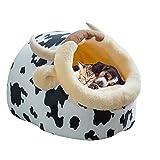 Lake.sea Cartone Animato Soft Nest Bed per Animali Domestici Gatto/Cane - Cute Warm Up Teddy Bear Fluff Pompoms Staccabile Sleeping Cave Shop