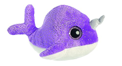 aurora-world-naree-the-narwhal-yoohoo-and-friends-sealife-plush-toy-small-purple-white-pink