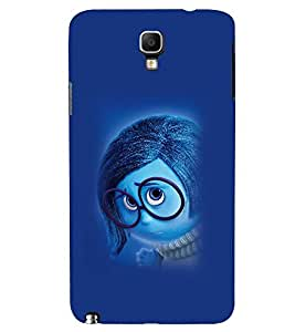 Printvisa Animated Cartoon With Spectacles Back Case Cover for Samsung Galaxy Note 3 Neo N7505