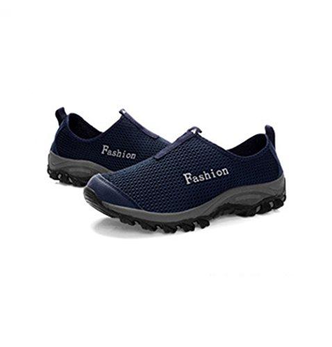 Chaussure randonné sport basket mode sneakers extérieur fit homme femme adulte mixte amoureux bleu foncé
