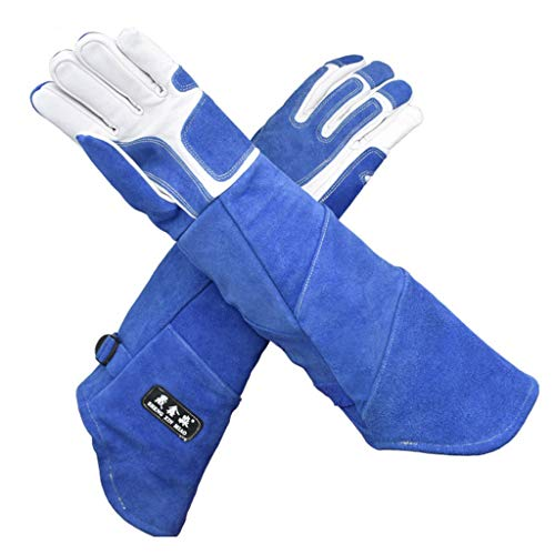 Car cover Voll Leder Verdickung Handschuhe, Anti-Tier-Biss und lange Handschuhe, Hundetraining, Pet Snake Shop, Domestician, Schutzhandschuhe (größe : L)