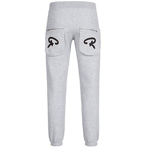 REDRUM -  Pantaloni sportivi  - relaxed - Uomo Hellgrau mel/schwarzes Logo