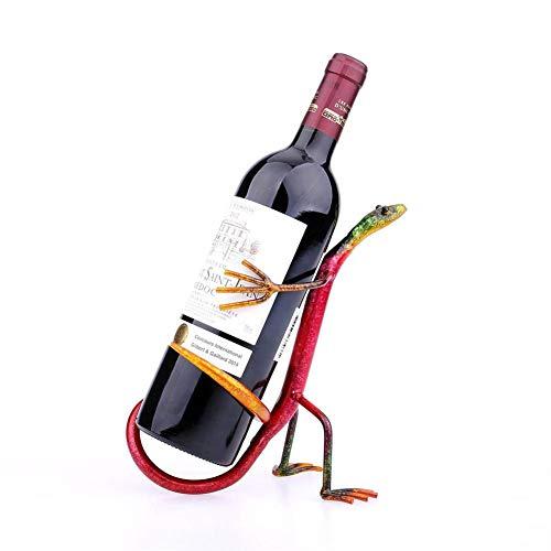 YSCYLY Gecko Wein Regal Moderne Wein Regal Figuren Metallskulptur Haus Dekoration Wein Stand...