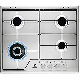 Electrolux–Placa de cocción a gas kgs 6434SX acabado inoxidable de 60cm