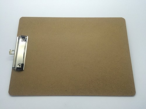 Image of Pack of 10 A4 Quality Wooden Clipboard with Hanging Hole