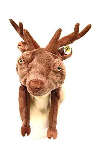 ut Elch, Fasching-Hut, Karneval-Hut, Spaß-Mütze, Party-Hut, Tier-Hut, Tier-Mütze, Kopfbedeckung, Wintermütze, Halloween-Hut ()