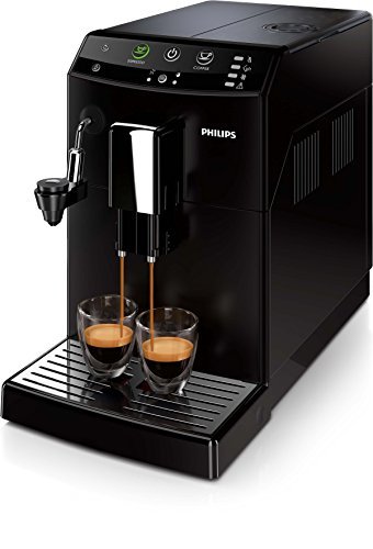 Philips 3000 series HD8824/01 - Cafetera (Independiente, Máquina espresso, 1,8 L, Molinillo integrado, 1850 W, Negro)