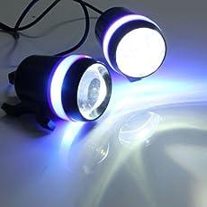 Delhi Traderss Motorcycle U3 LED Light Fog Spot Light Lamp Angle Eye 30W for YAMAHA FZ S V 2.0 (2 Pcs)