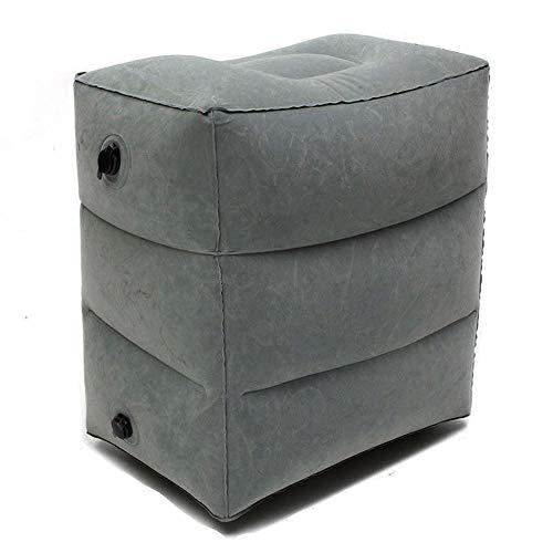 Preisvergleich Produktbild Mouchao Three-Layer Inflatable Flocking Footrest Mat Travel Inflatable Footrest Pillow