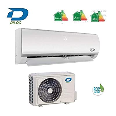 Diloc Conditioner 24000 Btu - Inverter Wall Mounted air Conditioner - D.Frozen.24 + D.FROZEN124 Sharp Compressor