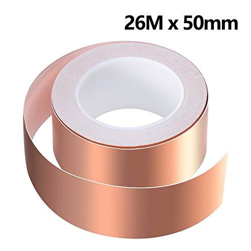 50mm X 25m EMI Abschirmband Kupferfolie Selbstklebend Klebeband Kupferband Rolle