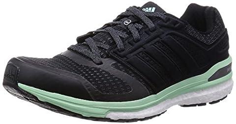 adidas Supernova Sequence Boost 8 W Herren Trainieren/Laufen, Black (Core Black/Iron Metal./Frozen Green F15),