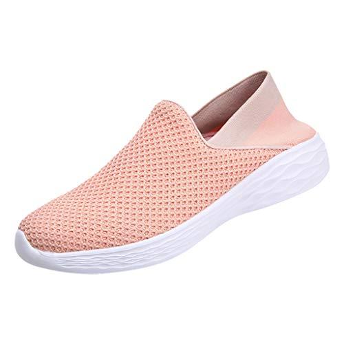LILICAT Sneaker Damen Freizeitschuhe Sportschuhe Outdoorschuhe Turnschuhe Mesh Breathable Bequeme Schuhe Loafers Footwears Halbschuhe (37, Rosa-A) -