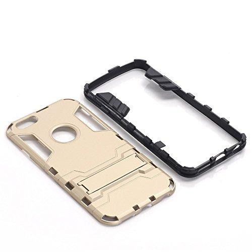 Xinanlongjb per iphone 6s/iphone 6 con supporto a cavalletto antiurto ibrido dual layer 2 in 1 armatura di ferro custodia rigida resistente custodia rigida protettiva (color : red)