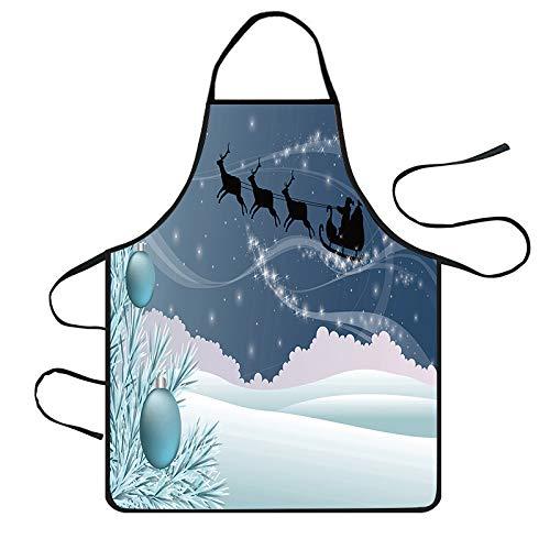 Magier Kostüm Niedliche - xmansky Für Weihnachten Halloween Party, Zuhause, Kamin, Hotel, Bar,Weihnachtsdekoration wasserdichte Schürze Küchenschürzen Dinner Party Schürze