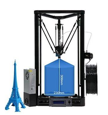 ANYCUBIC 3D Impresora Versión Lineal Kossel Plus con Montaje  Modular Autocalibración (autolevel)