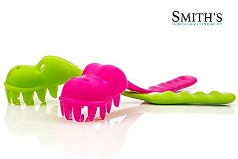 Smith's Servier-Löffel /-Zange für Spaghetti & Pasta, Pastasaurus-Design Green &